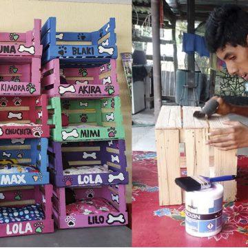 Facebook: joven discapacitado fabrica casa para mascotas